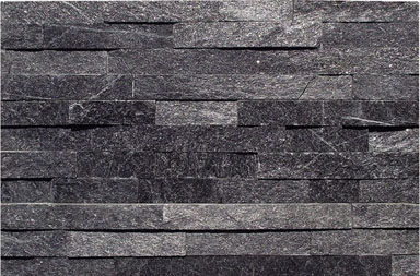 SF1308B Black Quartzite Ledgestone Cladding